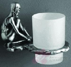 Стакан  Art&Max Juno  AM-0714-T настенный серебро