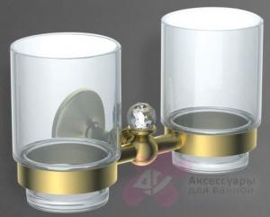 Два стакана  Art&Max Antic Crystal  AM-2688SJ-Cr настенный хром