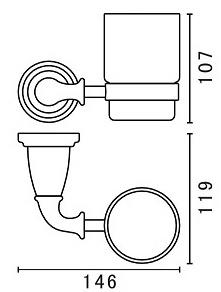 Стакан  Art&Max Bianchi  AM-3668AW настенный хром