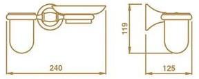 Стакан и мыльница Bagno&Associati Tempo  TM 143 на держателе настенные бронза