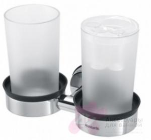 Держатель стаканов Brabantia  427527 двойной Brilliant Steel (сталь полированная