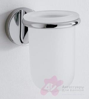 Стакан Carbonari Margherita  PBMA подвесной хром / стекло матовое