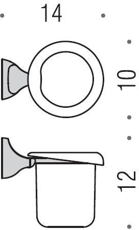Стакан Colombo Melo  B1202.000 подвесной хром / стекло матовое
