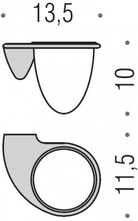 Стакан Colombo Khala  B1802.000 подвесной хром / стекло матовое