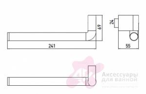 Полотенцедержатель Emco System 2  3555 001 00 поворотный хром