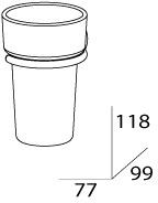 Стакан FBS Standard  STA 006 подвесной хром /хрусталь матовый