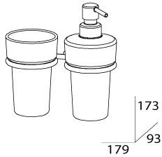 Стакан FBS Universal  UNI 027 подвесной с дозатором мыла хром /хрусталь матовый