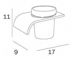 Стакан Inda Casta  A 5210A CR 21 настенный (левый хром