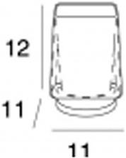 Стакан Inda Divo  R 1510A CR настенный с держателем A 1510N хром / стекло матовое