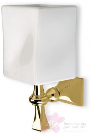 Стакан StilHaus Prisma  PR 10 CR подвесной хром / керамика белая