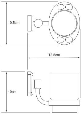 Стакан Wasserkraft Oder K-3000  K-3028C подвесной хром/керамика белая