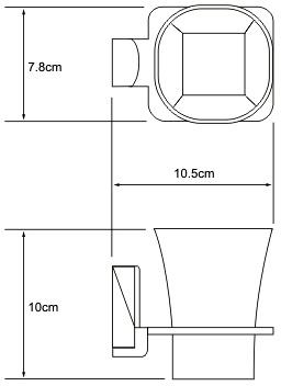 Стакан Wasserkraft Leine K-5000  K-5028 подвесной хром/стекло матовое