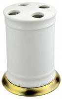 Стакан Aksy Bagno Fantasia Antique  8650 A настольный  бронза  / керамика белая