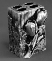 Подставка  Art&Max Tulip  AM-0082B-T для зубных щеток настольная серебро