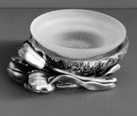 Мыльница  Art&Max Tulip  AM-0082C-T настольная серебро