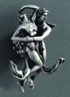 Крючок  Art&Max Romantic  AM-0812-T двойной серебро