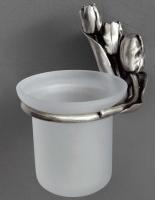 Держатель с колбой Art&Max Tulip  AM-0821-T для ершика настенный серебро