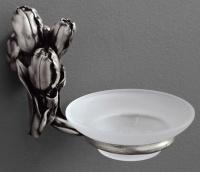 Мыльница  Art&Max Tulip  AM-0825-T настенная серебро