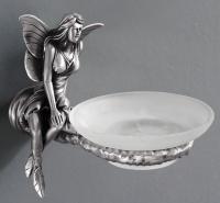 Мыльница  Art&Max Fairy  AM-0985-T настенная серебро