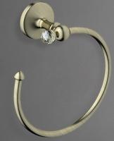 Полотенцедержатель  Art&Max Antic Crystal  AM-2680SJ-Cr кольцо хром