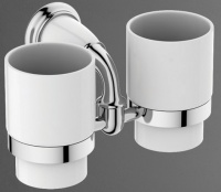 Два стакана  Art&Max Bianchi  AM-3688AW на держателе настенные хром