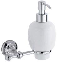 Дозатор для мыла Carbonari Gamma  PSGA2 CR подвесной хром / керамика белая