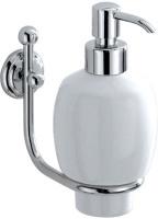 Дозатор для мыла Carbonari Teresa  PSTE2 CR подвесной хром / керамика белая