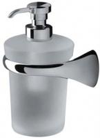 Дозатор для мыла Colombo Link   B9310.000 DX подвесной (правый хром / стекло матовое