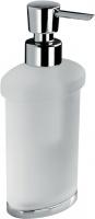 Дозатор для мыла Colombo Land  B9319.000 настольный хром / стекло матовое