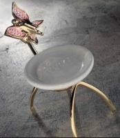 Мыльница Etruska Icaro  4807/55/PERLA/CER настольная золото/белый/керамика