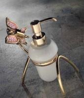 Дозатор мыла Etruska Icaro  4807/D/53/PERLA/CER настольный хром/белый/керамика