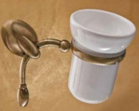 Стакан Etruska Retro  8551/55/CER настенный золото / керамика белая