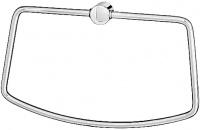 Полотенцедержатель FBS Universal  UNI 033 кольцо цвет хром