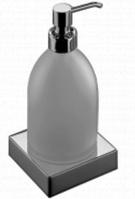 Дозатор для мыла Inda Divo  A 1512M CR настенный с держателем A 1510N хром / стекло матовое