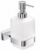 Дозатор для мыла Inda Lea  A 19120 CR настенный хром / стекло матовое