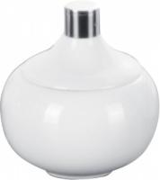 Контейнер Nicol Iris   2103226 настольный фарфор белый патинированные края / хром