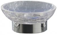 Мыльница Nicol Split  2381800 настольная стекло кракелюр / хром
