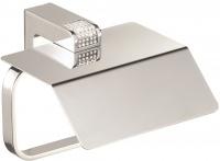 Бумагодержатель Sanibano Diamond  H9000/065IN с крышкой хром / Swarovski