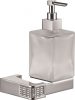 Дозатор жидкого мыла Sanibano Diamond  H9000/11 подвесной хром /стекло матовое / Swarovski