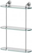 Подробнее о Полка 3SC Stilmar  STI 017 стеклянная тройная 40 см  хром / стекло