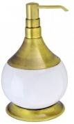 Подробнее о Дозатор для мыла Aksy Bagno Fantasia  6730 A настольный бронза / керамика белая