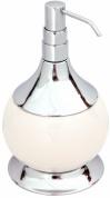 Подробнее о Дозатор для мыла Aksy Bagno Fantasia  6730 C настольный хром / керамика белая