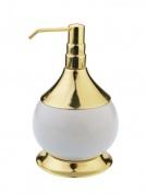 Подробнее о Дозатор для мыла Aksy Bagno Fantasia (арт. 6730 G) настольный золото / керамика белая