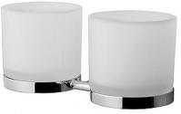 Подробнее о Стакан  AM.PM Serenity   A40343400 подвесной двойной хром / стекло матовое