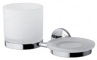 Подробнее о Стакан и мыльница  AM.PM Serenity   A40344200 подвесные хром / стекло матовое