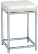 Подробнее о Стульчик Andrea House  AX5646 для ванны душевой кабины хром / сиденье белое (экокожа