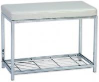 Подробнее о Стульчик Andrea House  AX5647 для ванны душевой кабины хром / сиденье белое (экокожа