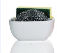 Подробнее о Контейнер Andrea House  CC63009 для мыла, губки керамика белая/хром