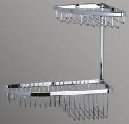 Подробнее о Полка Art&Max AM-F-2822-CR решетка угловая 2-х ярусная хром