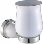 Подробнее о Стакан Art&Max Felicia aрт. AM-F-5503-CR настенный хром / керамика белая